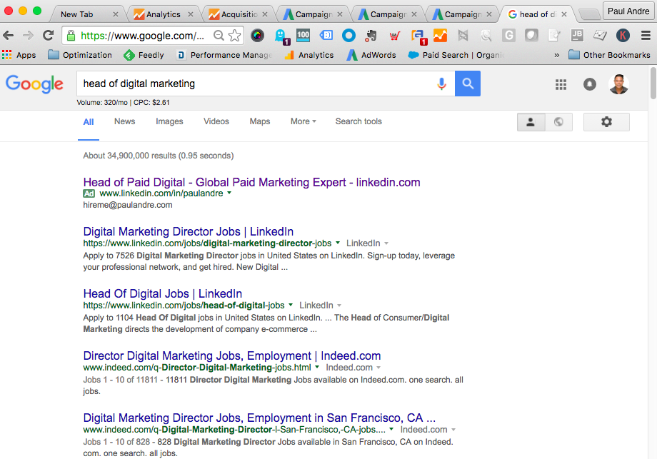 Head of Paid Digital Marketing